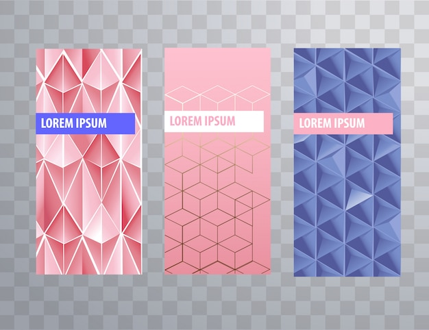 Packaging or brochure cover feminine templates