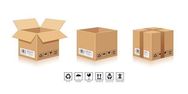 Упаковка коричневая коробка