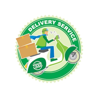 Packaging delivery service logo design template
