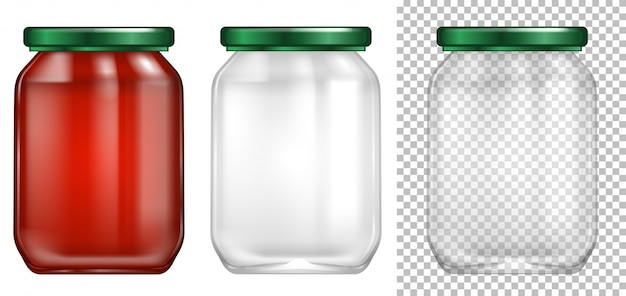 Packaging design for glass jar