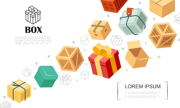 Packaging elements template