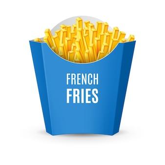 Упаковка для иллюстрации картофеля фри