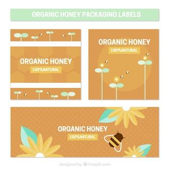 유기농 꿀 포장