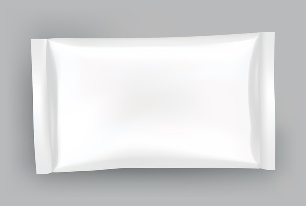 Packaging mockup or pouch template. realistic glossy blank of doy pack