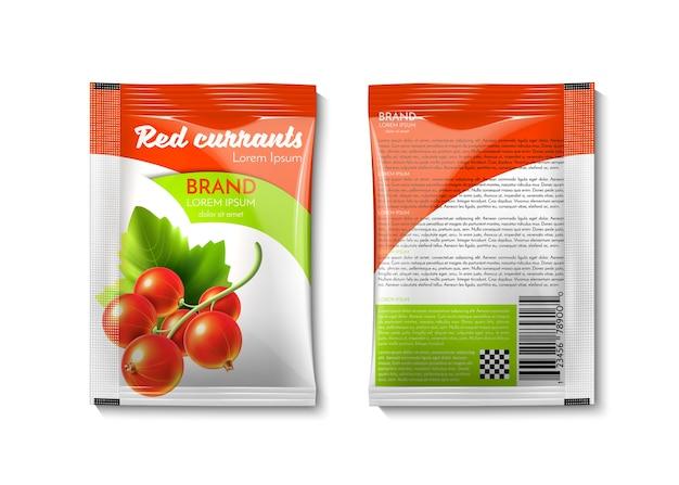 Упаковка с красной смородиной