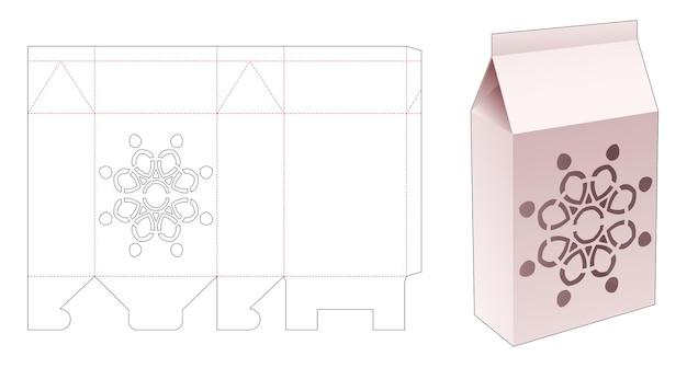 Упаковка с высеченным шаблоном мандалы