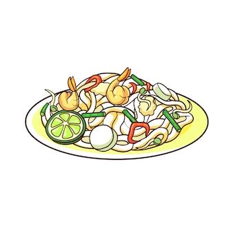 팟 타이는 태국의 전형적인 음식입니다.