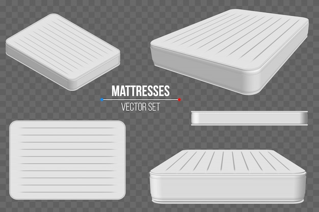 Padded comfortable sleeping mattresses set.