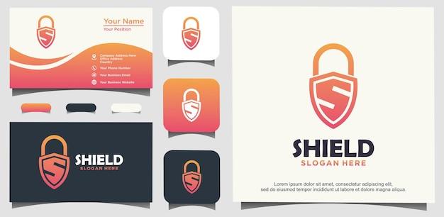 보안 로고 디자인을 보호하기 위한 자물쇠 문자 s