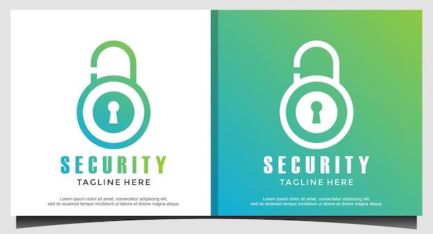 자물쇠는 보안 비즈니스 로고 디자인을 보호합니다.
