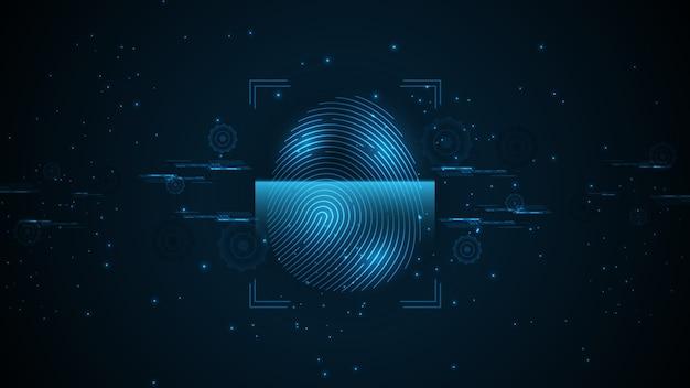 Padlock security cyber digital concep