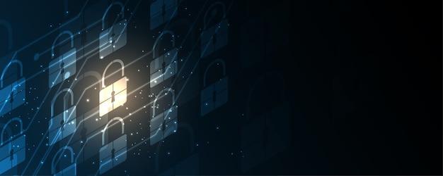 南京錠セキュリティサイバーデジタルコンセプト、抽象的な技術の背景は、システムの革新を保護します