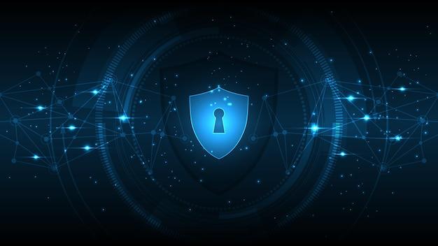 자물쇠 보안 사이버 디지털 개념