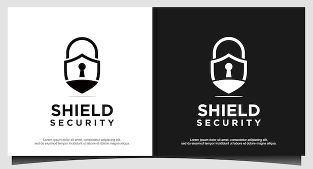 Padlock symbol guard shield for logo design illustrator, security icon