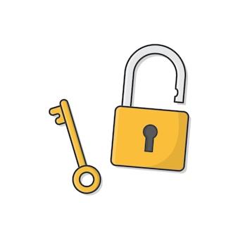 흰색 절연 키 자물쇠