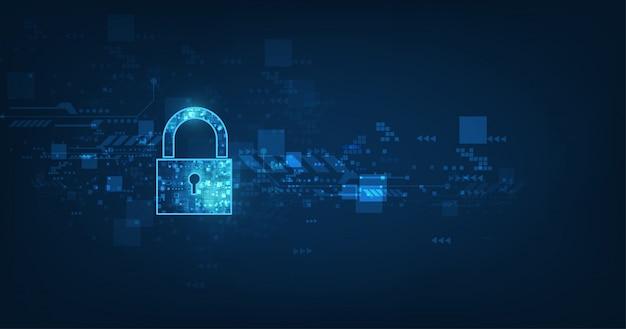 개인 데이터 보안의 열쇠 구멍 아이콘 자물쇠 사이버 데이터 또는 정보 개인 정보 보호 아이디어를 보여줍니다.