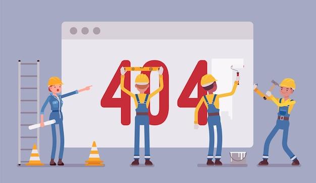 Страница 404 в процессе строительства