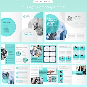 Page brochure template design
