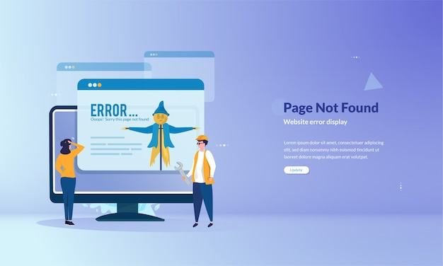 Page cannot be found banner concept