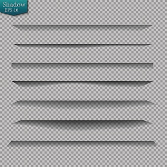 透明な影のあるページ分割