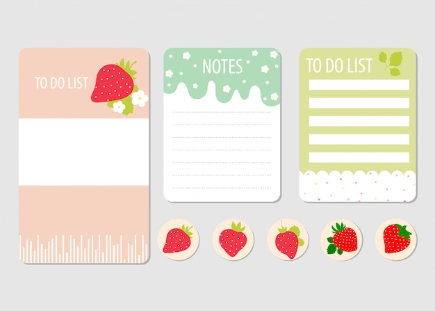 Page elements for notebook.
