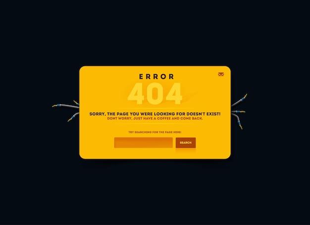 Page not found, 404 error. 404 connection error.