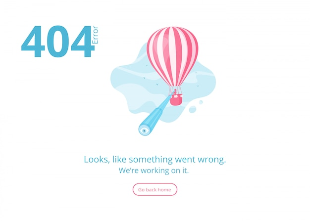 Page not found 404 error website