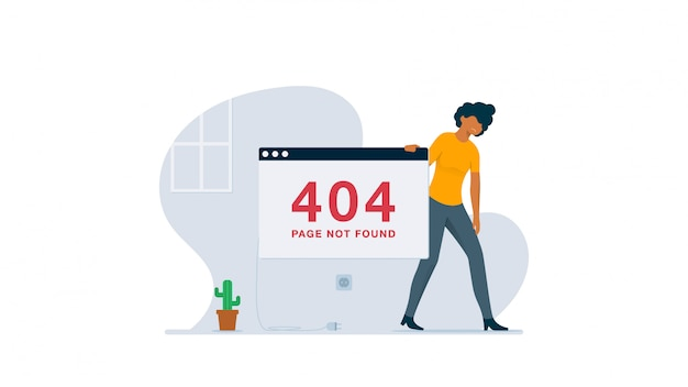 Page not found concept illustration
