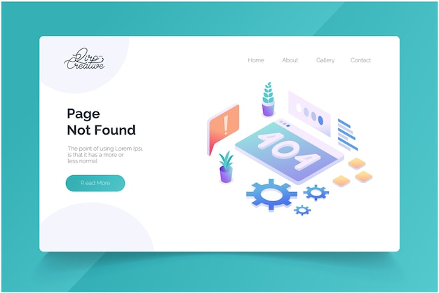 Page not found concept landing page template