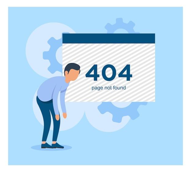 Page not found error 404 flat design
