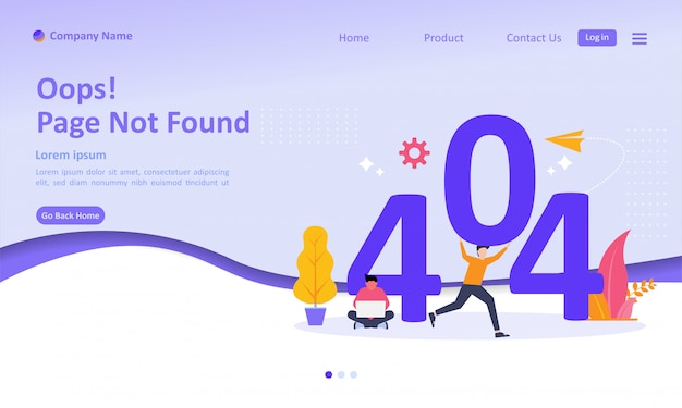 Page not found error 404 landing page