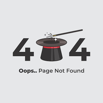 Page not found error 404 template for web page with 404 erro