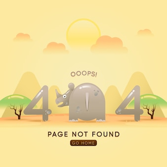 Page not found in gradient style