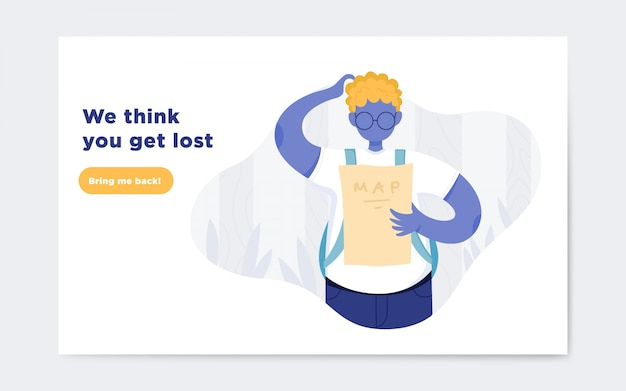 Page not found illustration landing page