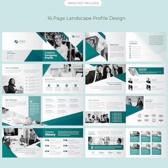 Page landscape brochure design