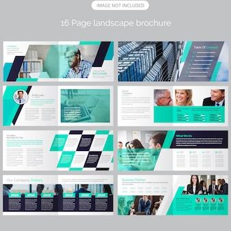 Page landscape company profile brochure template