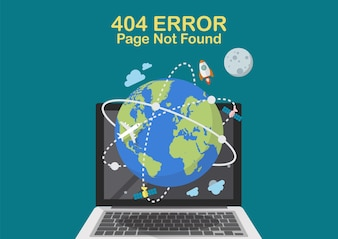 Page Not Found internet problem concept