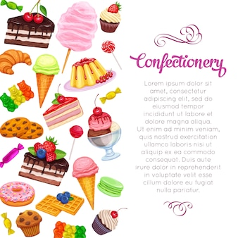 Page  with confectionery and sweets