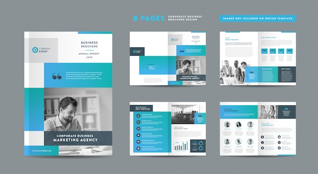 Pages business brochure design | annual report and company profile | booklet and catalog design template