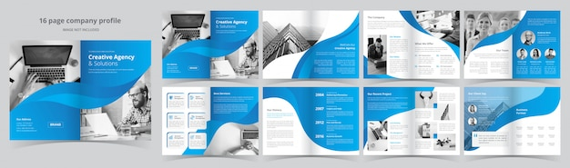 Pages business brochure template