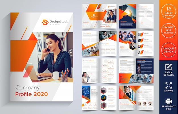 Pages company profile brochure
