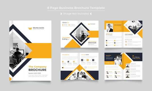 Pages corporate brochure design template