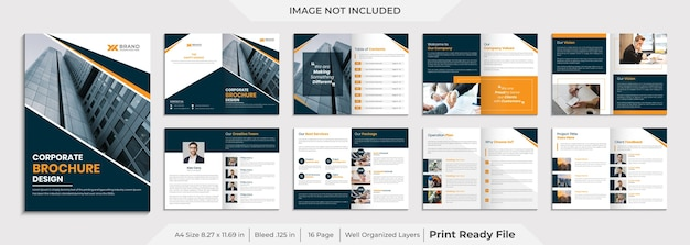 Шаблон корпоративной брошюры pages