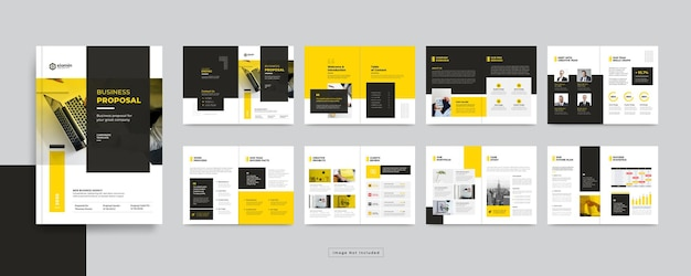 Pages corporate business brochure design template