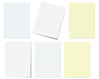 Pages of notebook