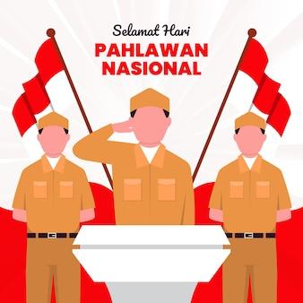 Фон дня героев пахлавана с солдатами