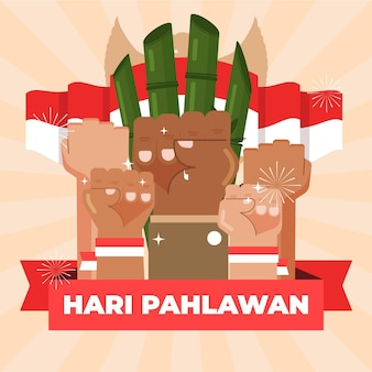 Pahlawan illustration celebration