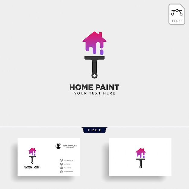 Paint brush colorful logo template vector icon element