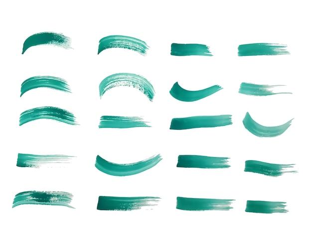 청록색으로 설정된 페인트 브러시 스트로크
