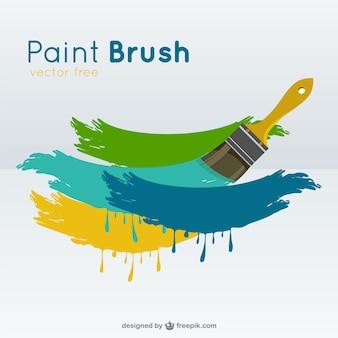 Paint brush    vector Free Vector